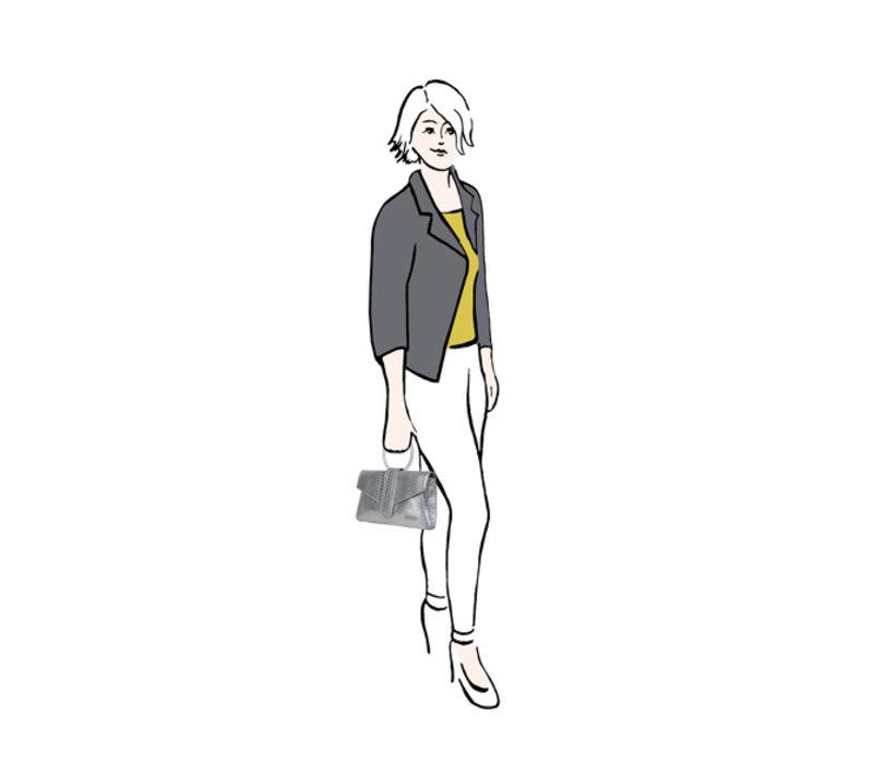Clutch bag Donna (silver)
