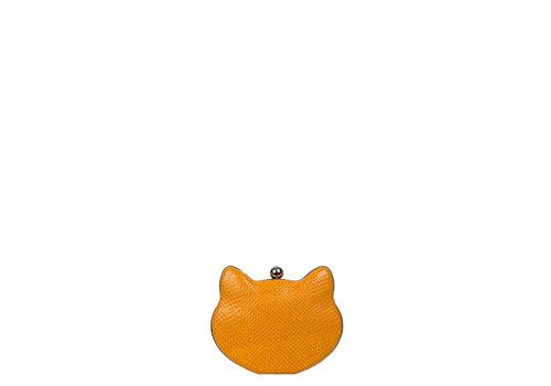 Clutch bag Cat (ochre)