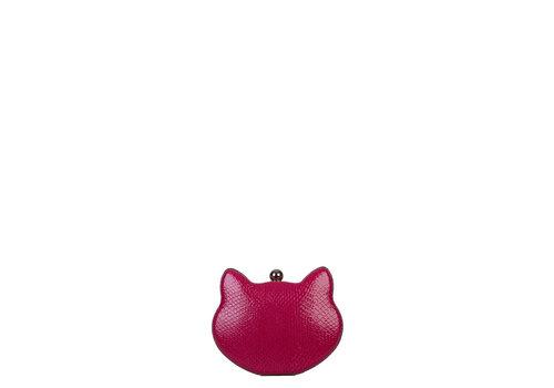 Clutch bag Cat (fuchsia)