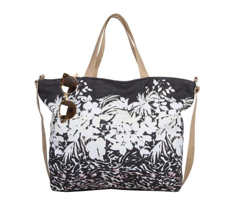Shopper Flower Zebra (zwart)