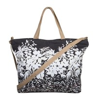 Shopping bag Flower Zebra (black)