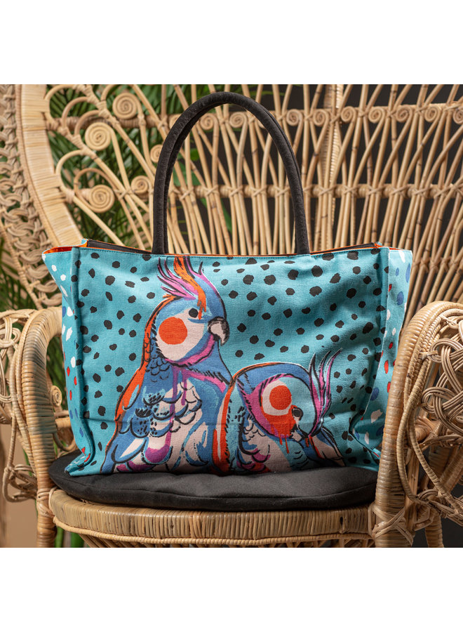 Shopping bag Parrot (turquoise)