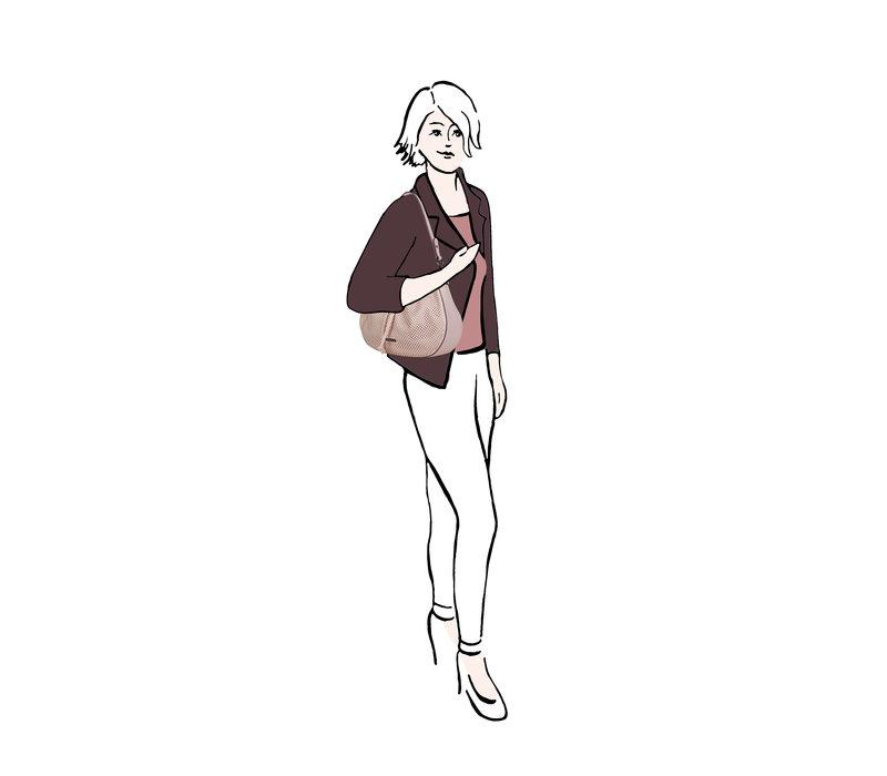 Hobo schoudertas Penny (oud roze)