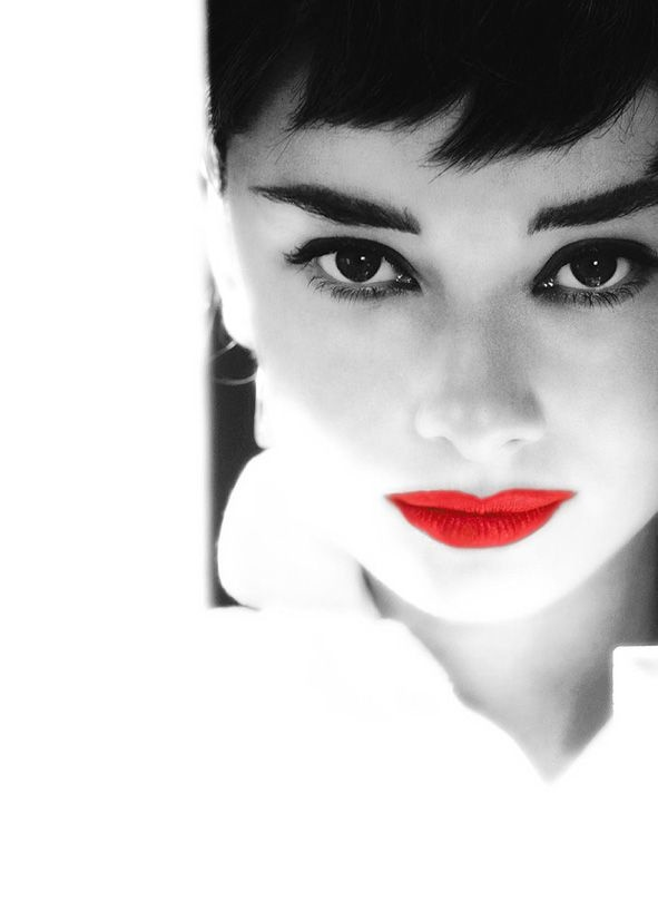 Audrey Hepburn red
