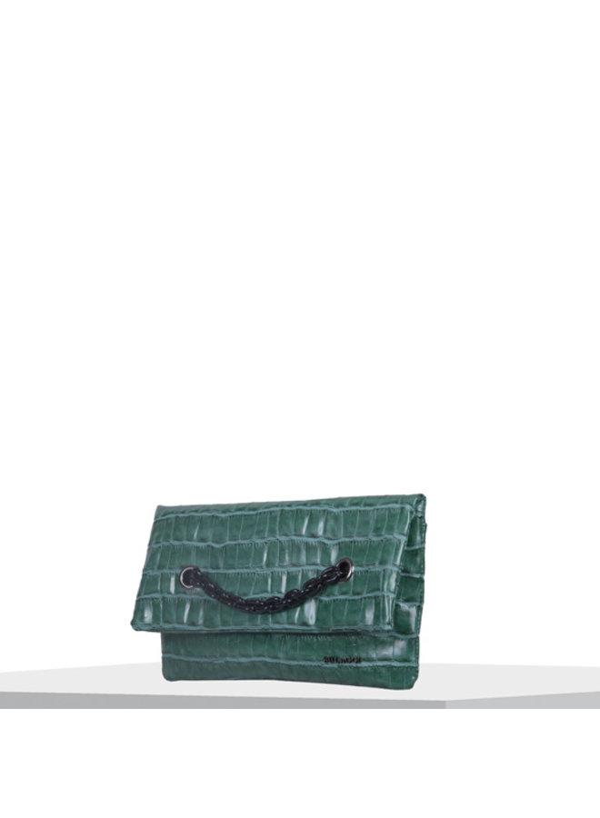 Clutch Croc (smaragdgroen)
