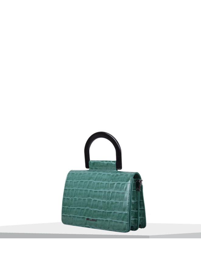 Crossbody bag Croc (emerald green)