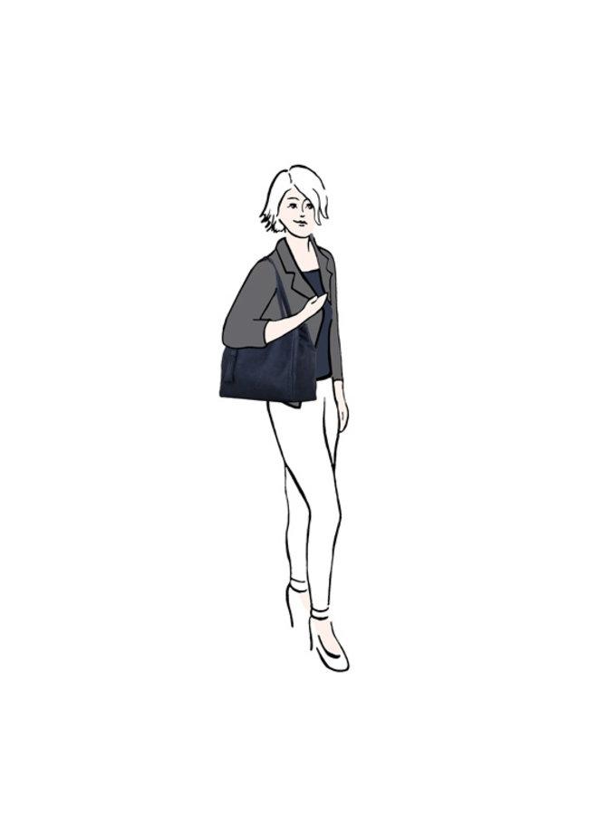 Shopper Gerbera (donkerblauw)
