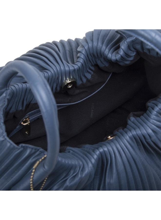 Handtas Pleaty (denim blauw)