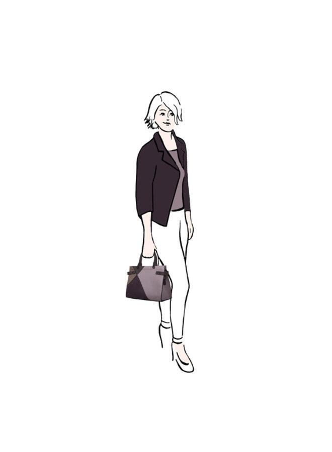 Shopper Peony (zwart)