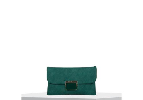 Clutch bag Carnation (emerald green)
