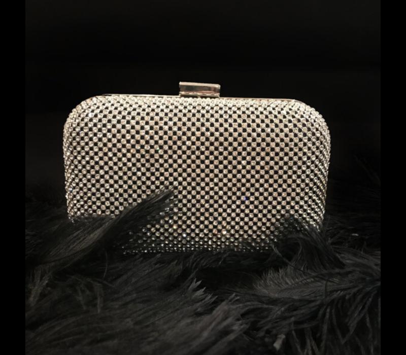 Clutch bag box Jasmin (silver)
