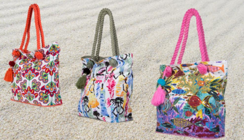 Zomerse temperaturen vragen om strandtassen!