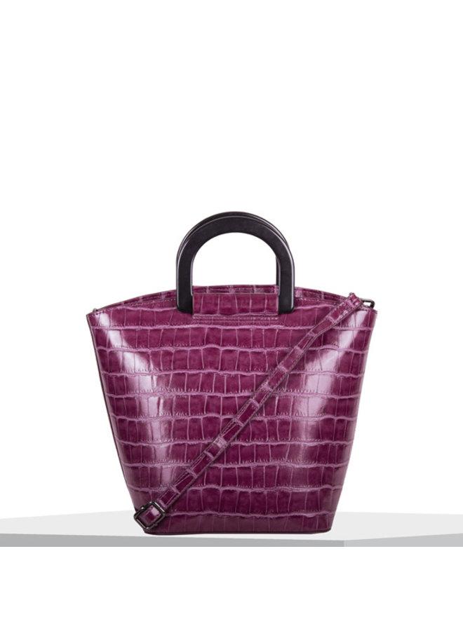 Handbag Croc (fuchsia)
