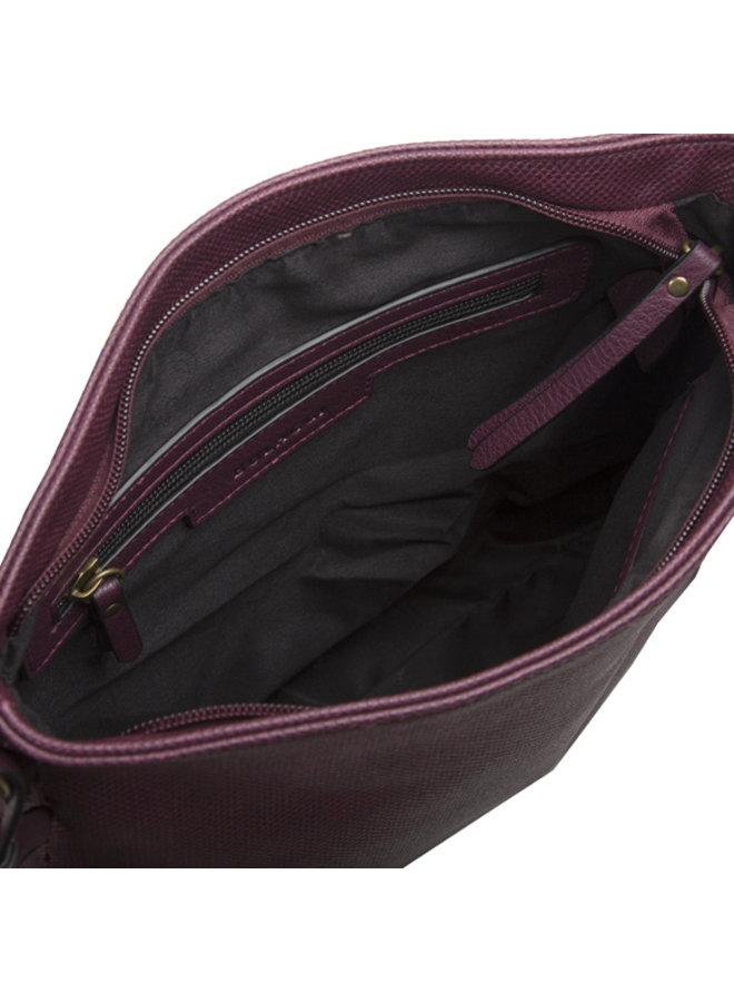 Crossbody bag Gerbera (burgundy)