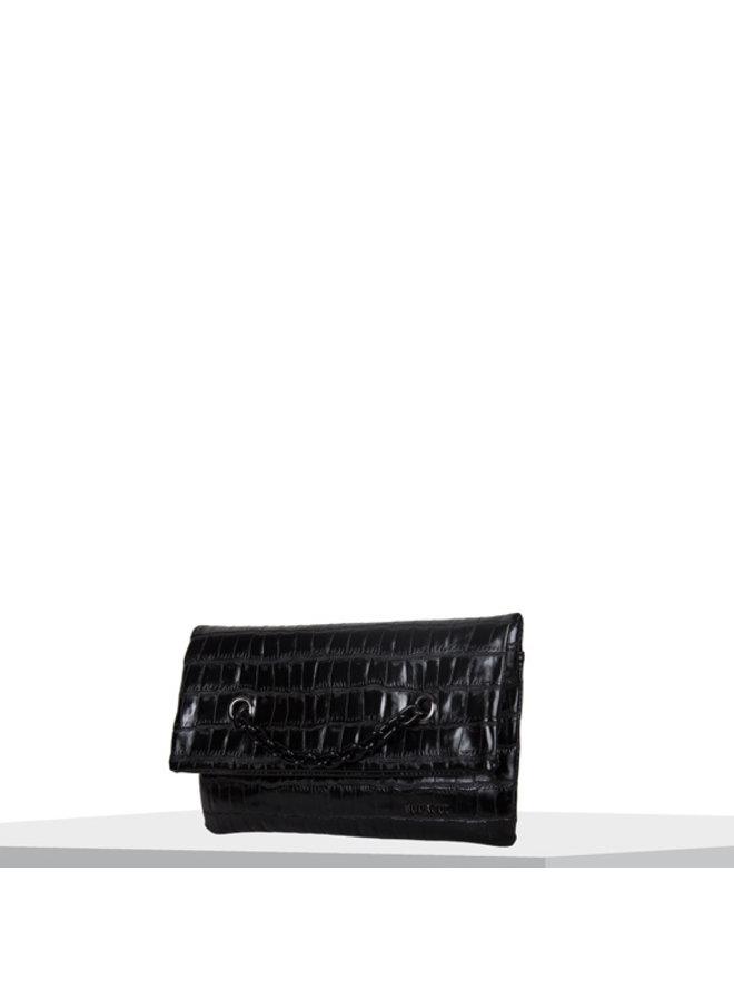 Clutch Croc (zwart)