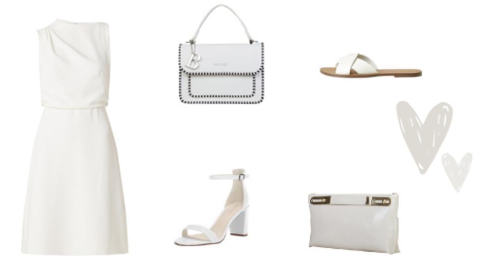 Witte outfit van top tot teen
