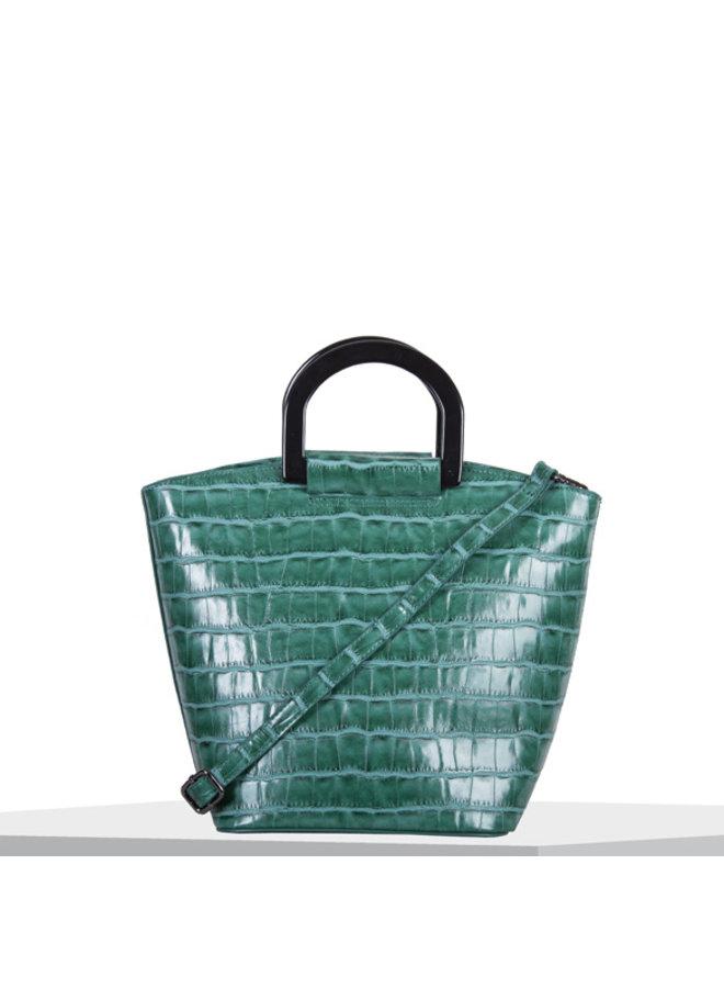 Handbag Croc (emerald green)