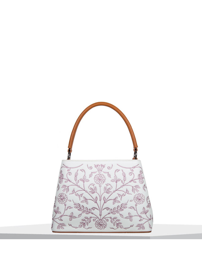 Shoulder bag Embroidery (white)