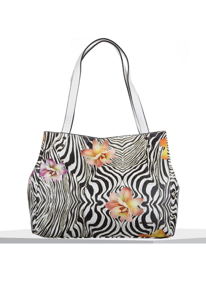 Shopper Zebra flower (multikleur)