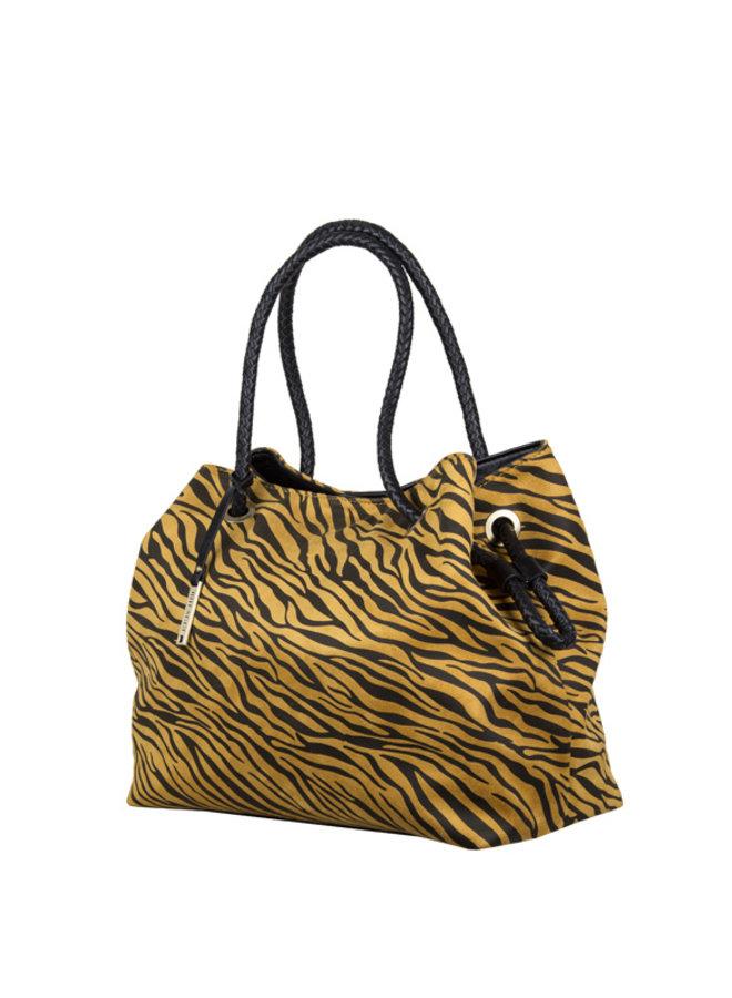 Shopper Zebra (donkergeel)