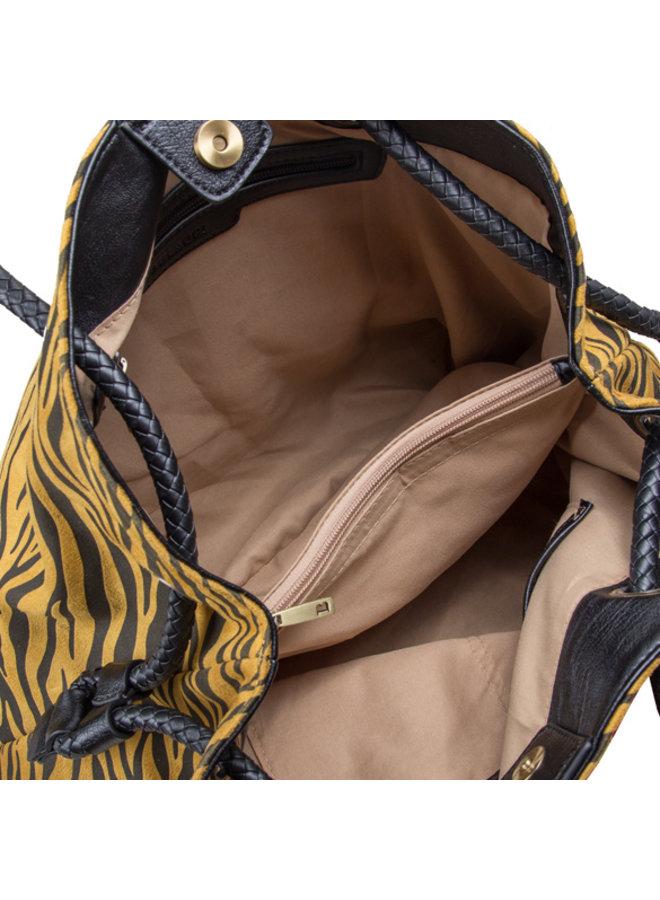 Shopping bag Zebra (dark yellow)