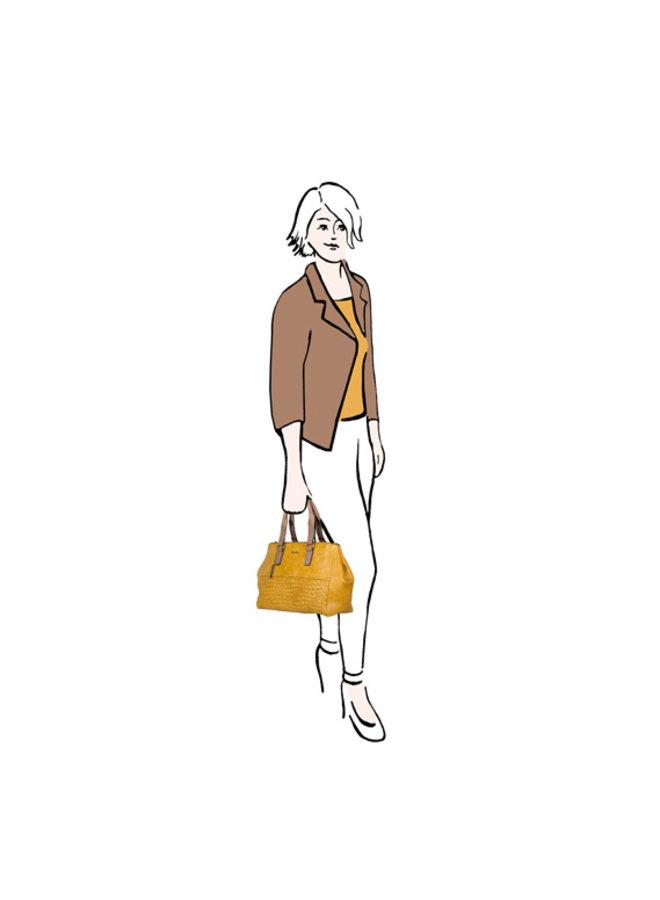 Shopper Hellebore (donkergeel)
