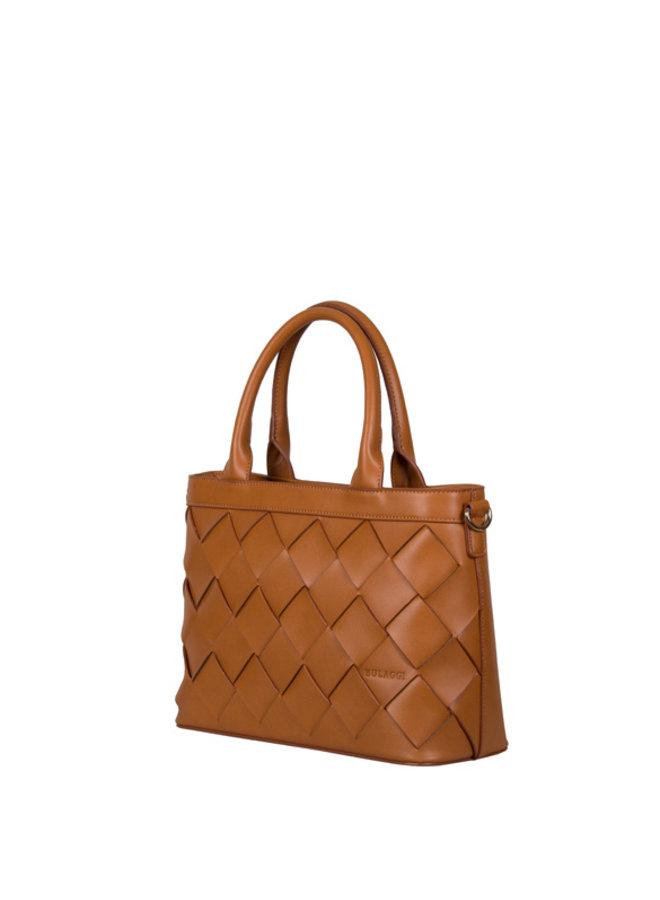 Shopping bag Block (cognac)
