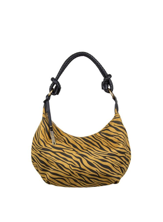 Hobo schoudertas Zebra (donkergeel)