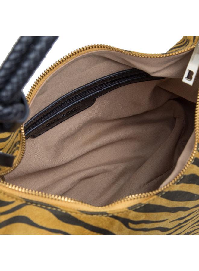 Hobo shoulderbag Zebra (dark yellow)