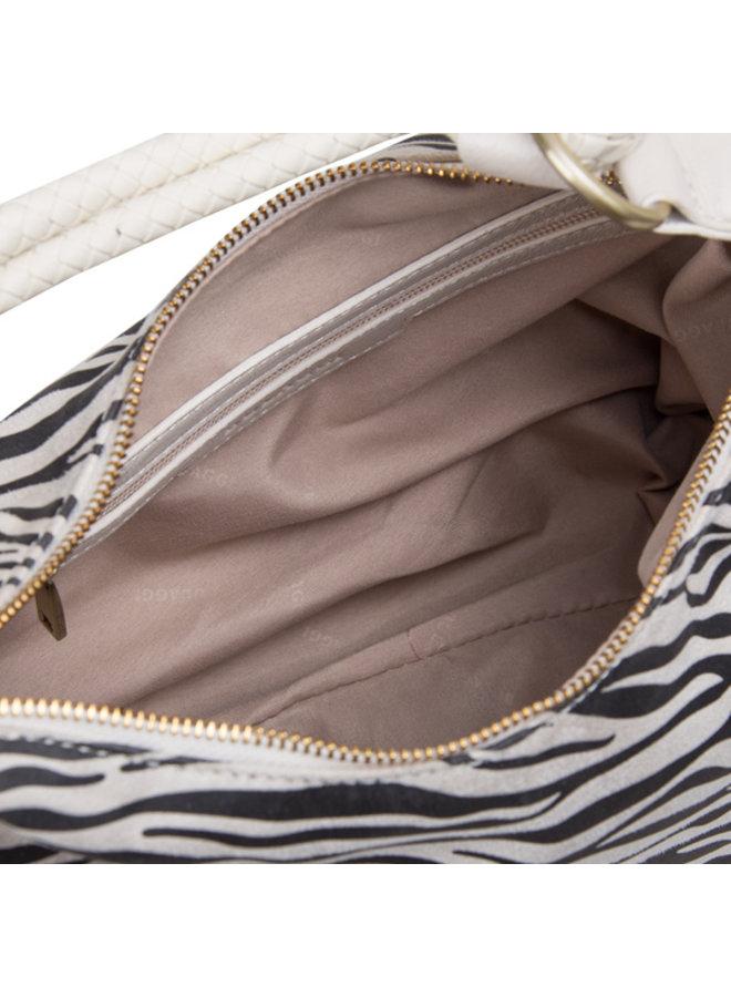 Hobo schoudertas Zebra (creme)
