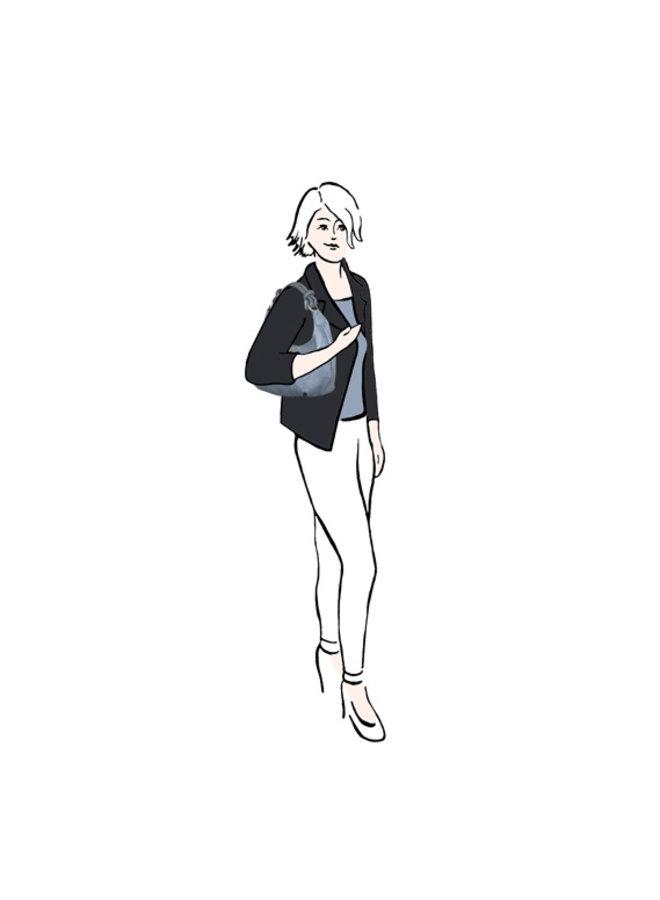 Hobo schoudertas Puff (pastelblauw)