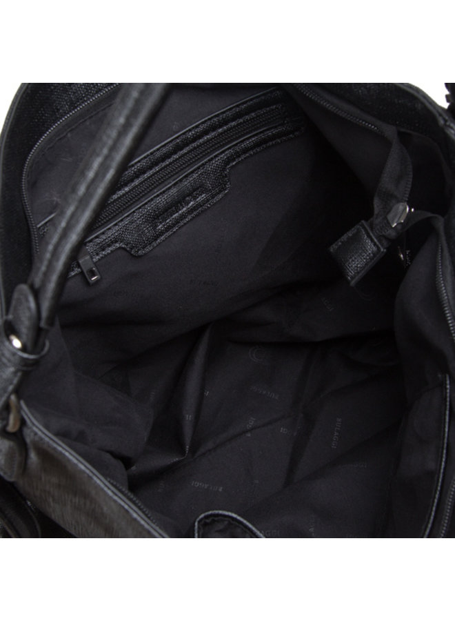 Hobo schoudertas Gauze (zwart)