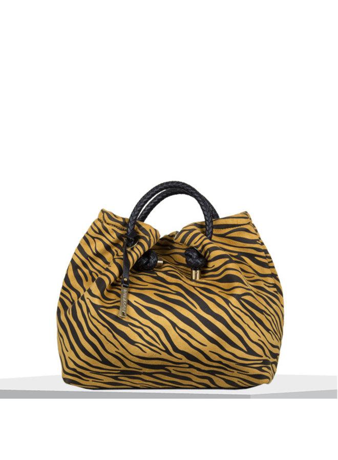 Handbag Zebra (dark yellow)