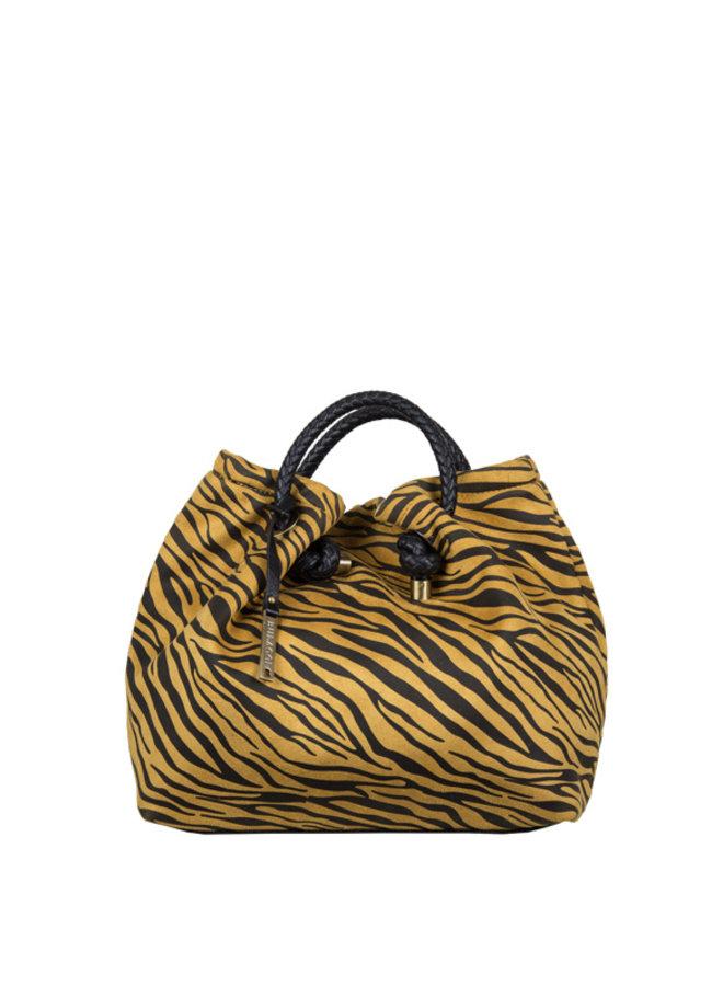 Handtas Zebra (donkergeel)