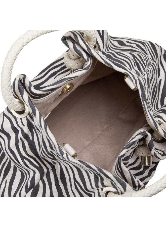 Handtas Zebra (creme)