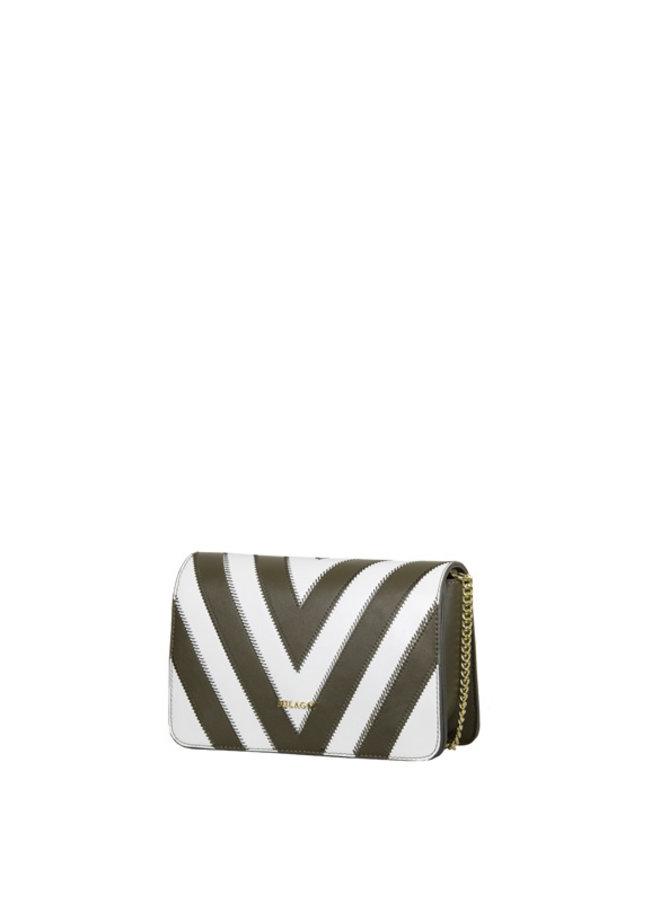 Crossbody tas Zigzag (kaki groen)