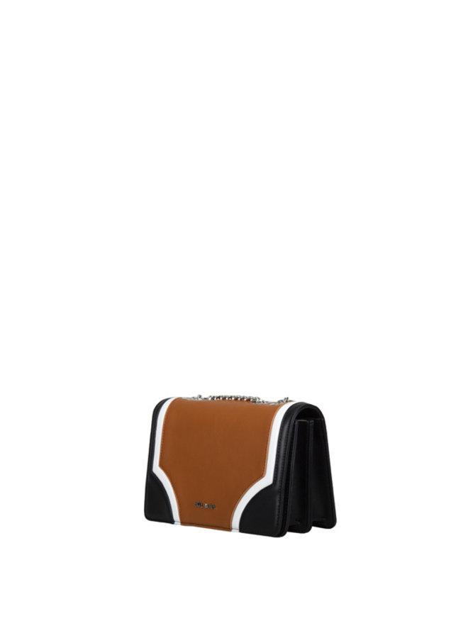 Crossbody tas Sharkskin (zwart)