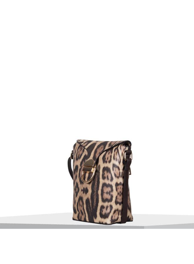 Crossbody bag Leo (dark brown)