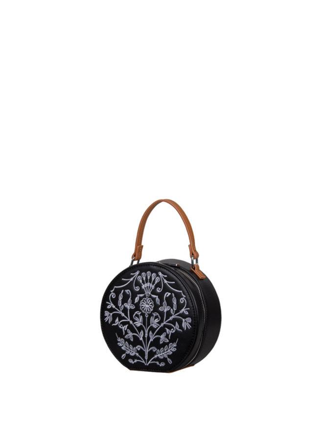 Crossbody tas Embroidery (zwart)