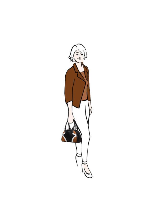 Handbag Sharkskin (cognac)