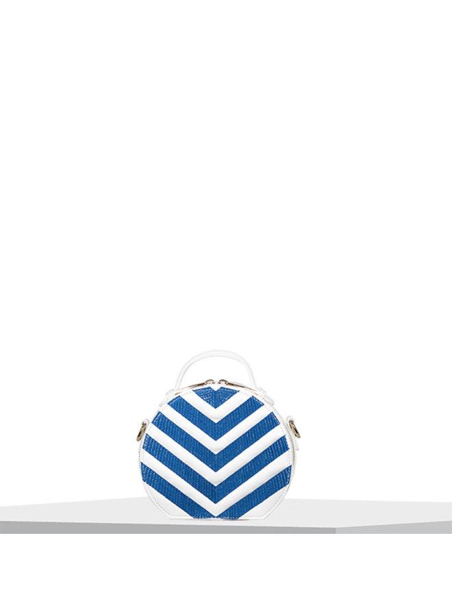 Handbag (circle bag) Zigzag (cobalt blue)