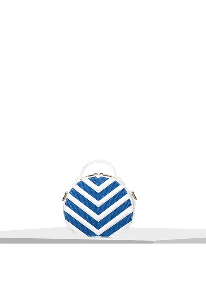 Handtas (circle bag) Zigzag (kobaltblauw)