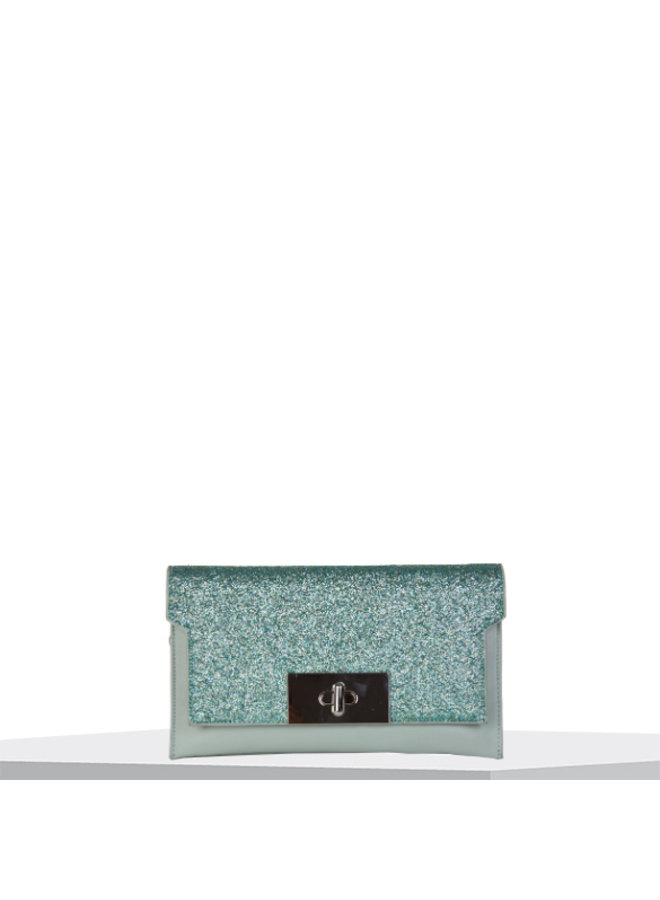 Clutch bag Dory (emerald green)