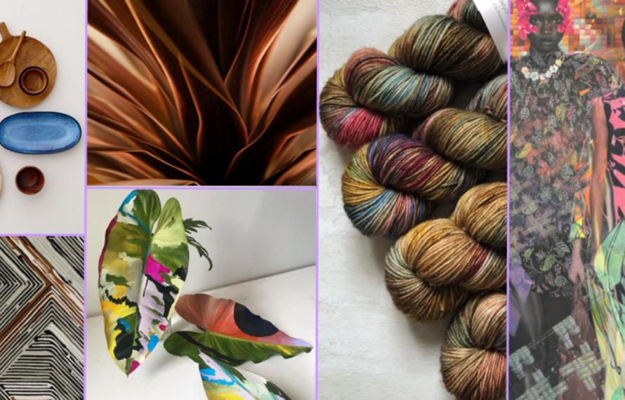 Onconventionele kleurencombinaties en botsende prints.