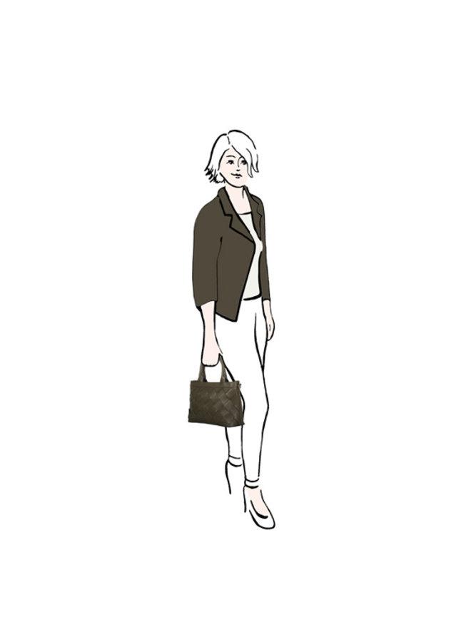 Shopping bag Block (khaki green)