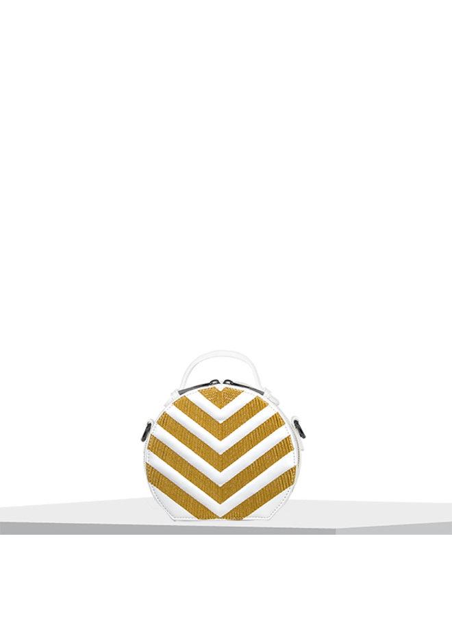 Handtas (circle bag) Zigzag (geel)