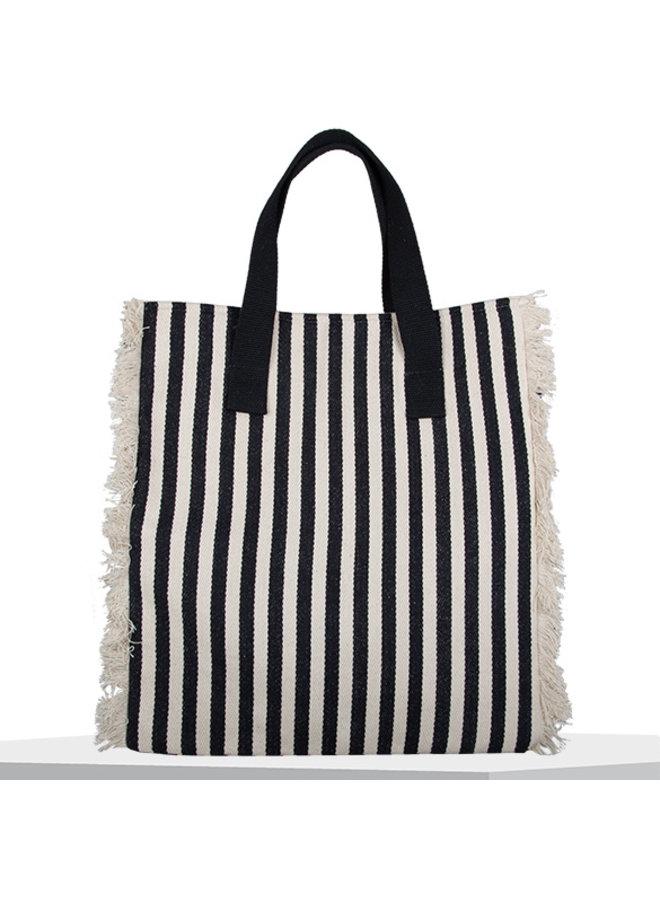 Shopping bag Beach (black-white)