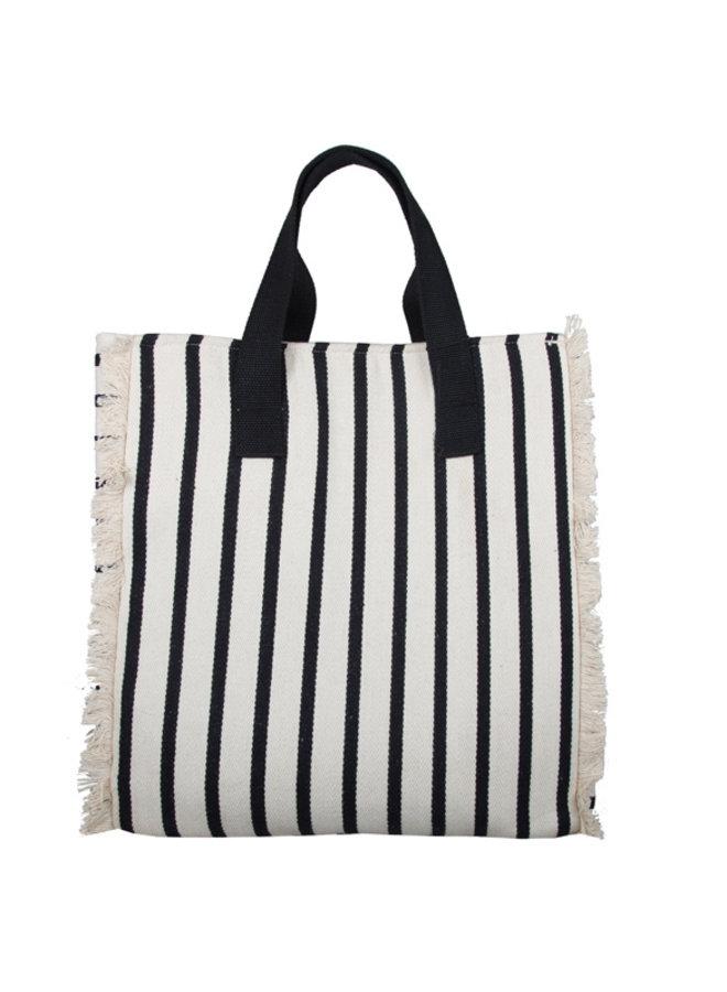 Shopping bag Beach (white-black)