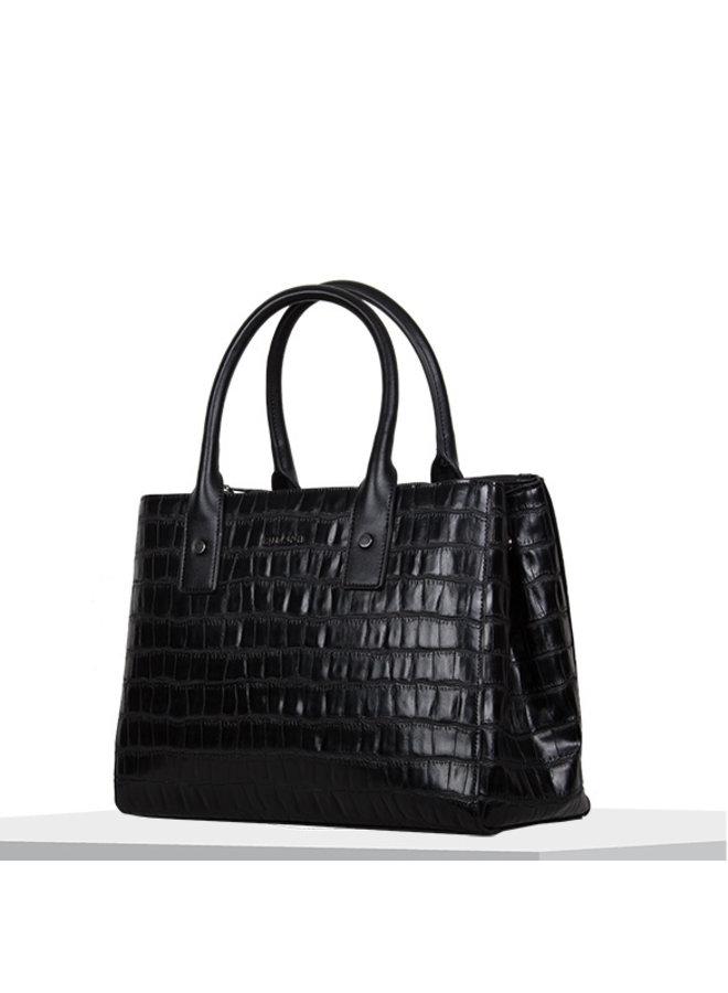 Shopping bag Iris (black)
