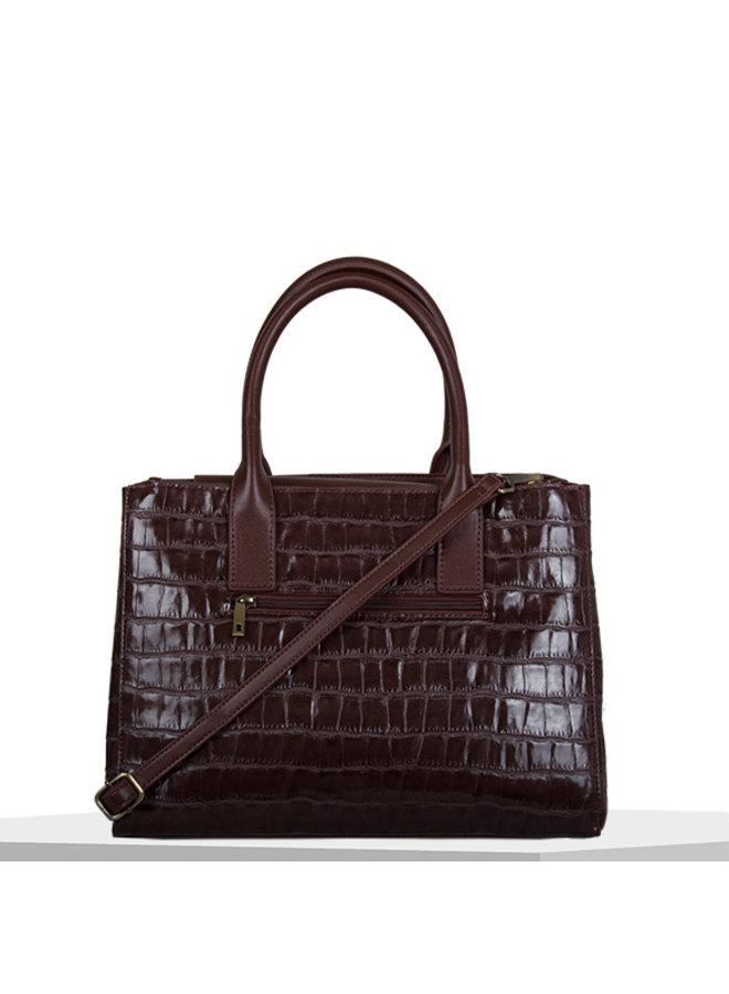 Shopping bag Iris (dark brown)